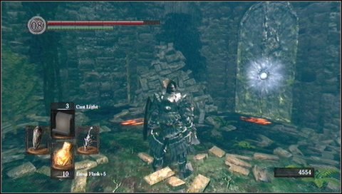 Once you regenerate, continue your walk - Darkroot Garden - p. 1 - Walkthrough - Dark Souls - Game Guide and Walkthrough