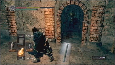 A bit further you'll get to the staircase, with the same giant ball as previously, rolling down - Sen's Fortress - p. 2 - Walkthrough - Dark Souls - Game Guide and Walkthrough