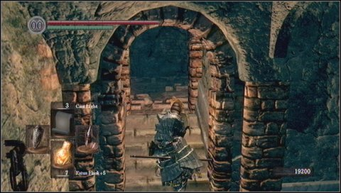 In this situation it is best to do like this: wait until ball passes you and quickly run the stairs up - Sen's Fortress - p. 2 - Walkthrough - Dark Souls - Game Guide and Walkthrough
