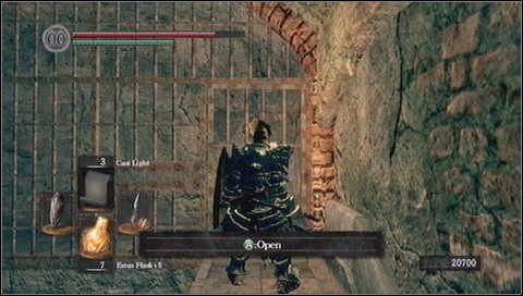 You'll see a ramp to a chamber, where giant rocks are loaded - Sen's Fortress - p. 2 - Walkthrough - Dark Souls - Game Guide and Walkthrough