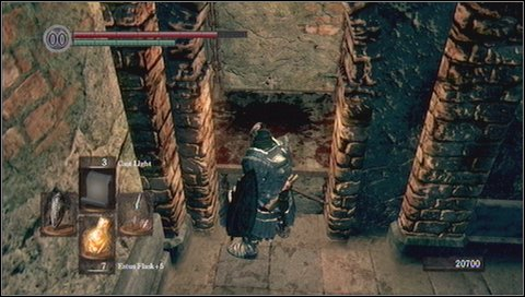 At the bottom you'll see a chest - DO NOT OPEN IT - Sen's Fortress - p. 2 - Walkthrough - Dark Souls - Game Guide and Walkthrough