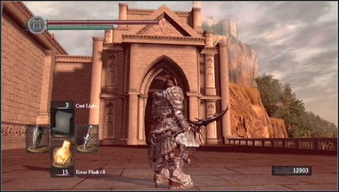 So go to the only possible way now - to the elevator - Anor Londo - p. 1 - Walkthrough - Dark Souls - Game Guide and Walkthrough