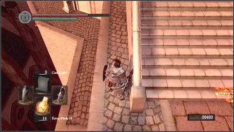 In the backside part of the tower you'll find a chest with Demon Titanite - Anor Londo - p. 1 - Walkthrough - Dark Souls - Game Guide and Walkthrough