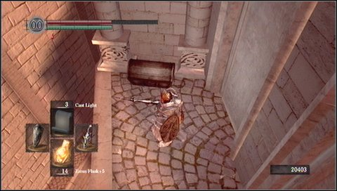 Now you have to do something surprising - use the lower platform to go back to the opposite side - Anor Londo - p. 1 - Walkthrough - Dark Souls - Game Guide and Walkthrough