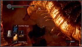 Run towards the wall and turn left - youll see a giant centipede on a horizon - Demon Ruins - p. 1 - Walkthrough - Dark Souls - Game Guide and Walkthrough