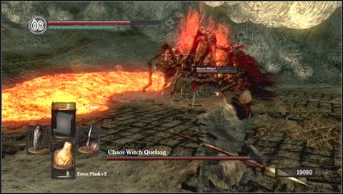 6) Sword combo - a triple attack - Chaos Witch Quelaag - How to kill a boss - Dark Souls - Game Guide and Walkthrough