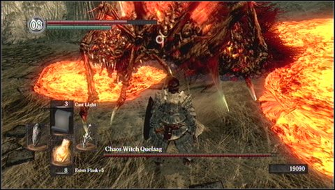 It is also important to fight in places without lava - Chaos Witch Quelaag - How to kill a boss - Dark Souls - Game Guide and Walkthrough