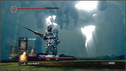 4) Grab - if you are close to his leg, demon can try to grab and eat you - Gaping Dragon - How to kill a boss - Dark Souls - Game Guide and Walkthrough