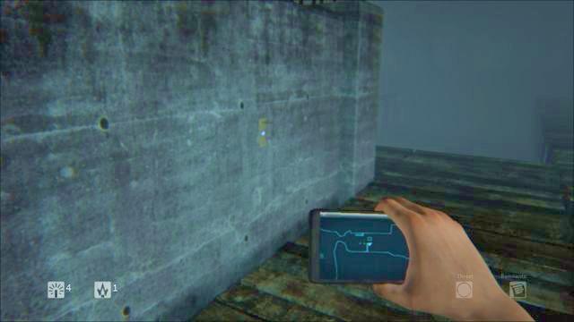 Nota ligado à parede do edifício no meio - Nível 4 - Floresta - Storyline - Diurno - Guia do Jogo e Passo a passo