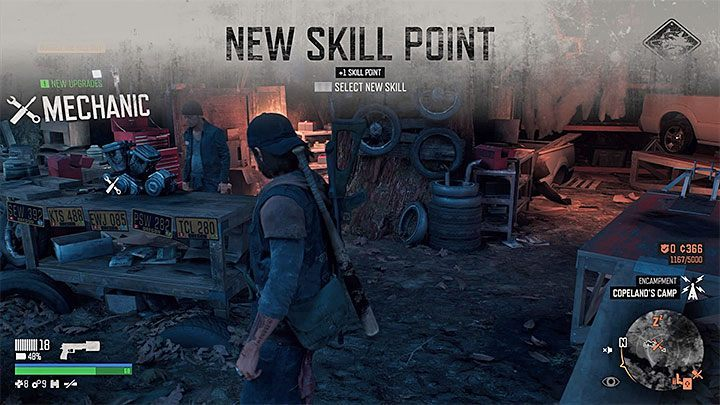 Each time you receive a new skill point the game informs you about it - Skills in Days Gone - Character progression - Days Gone Guide