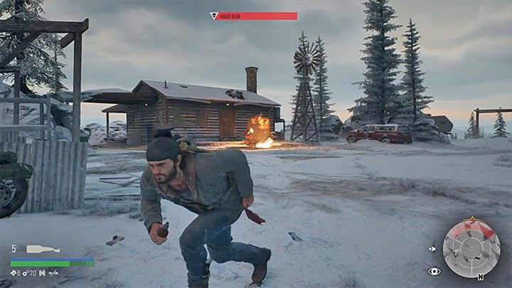 In general, the strategy that has to be implemented when fighting Rager Bear is similar to the one you had to use when fighting the creature at the gas station - How to kill the bear boss in the Lots of Sick People mission in Days Gone? - FAQ - Days Gone Guide