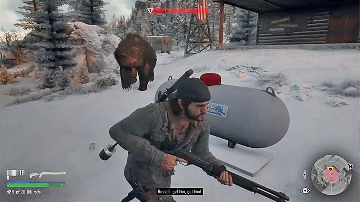 During the fight, run as much as possible and do not allow the bear to get near Deason so that he does not bite or knock him down - How to kill the bear boss in the Lots of Sick People mission in Days Gone? - FAQ - Days Gone Guide