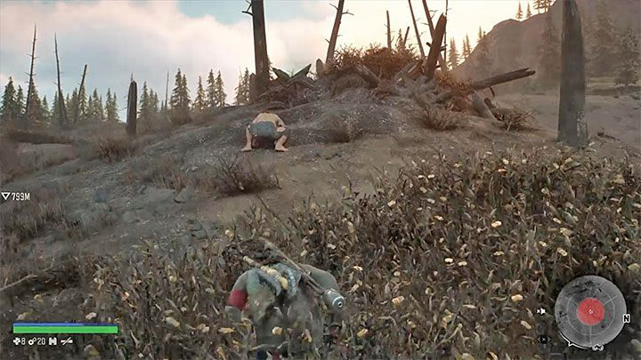 Get off the motorcycle and use binoculars to find the monster - How to get the trophy This is a Knife in Days Gone? - Trophies and achievement - Days Gone Guide