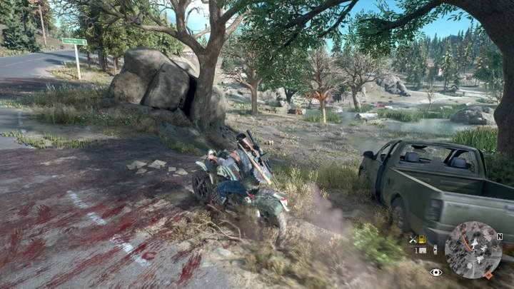 Dont get too close on your bike to be unnoticed. - Marauder Camp Hunter | Days Gone Walkthrough - Main storyline - Days Gone Guide