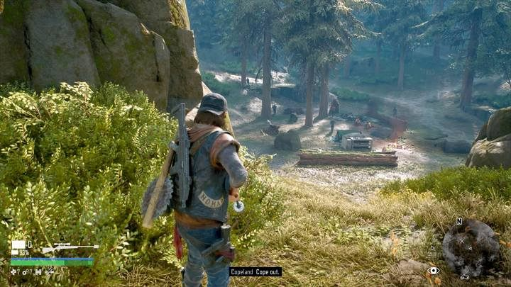 Most of the enemies are in the center of the camp. The rest resides the hills nearby. - Marauder Camp Hunter | Days Gone Walkthrough - Main storyline - Days Gone Guide
