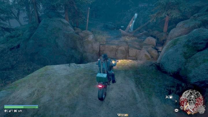 Another case occurs when you need to jump over the abyss using a motorcycle to get into the vicinity of helicopter wreckages. - Type of activities in Days Gone - World Atlas - Days Gone Guide
