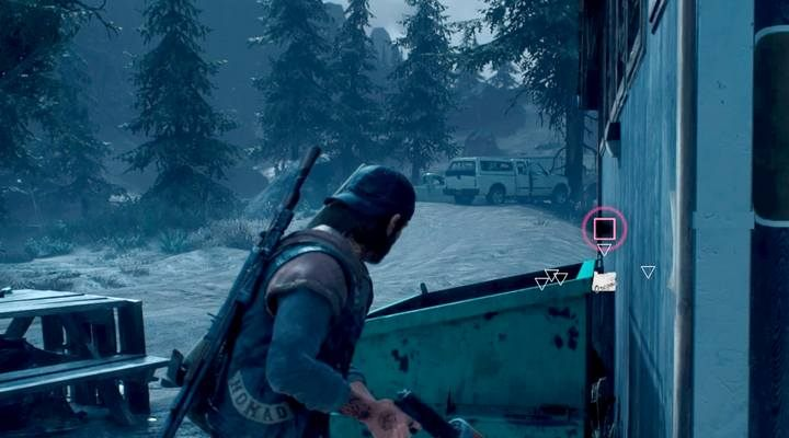 Another secret is in near the toilets, just north of Hot Springs, behind the road - Map of secrets and collectibles in Belknap - Belknap region maps - Days Gone Guide