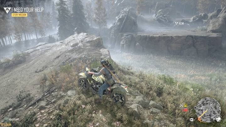 This is another research point to which you have to jump using a motorcycle and a rock - Map of important locations in Lost Lake - Lost Lake region maps - Days Gone Guide