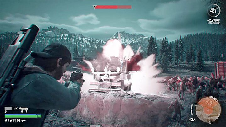 Great relief is the fact that the surrounding area is full of objects that can blow up - How to defeat the Horde at the Iron Butte in Days Gone? - FAQ - Days Gone Guide