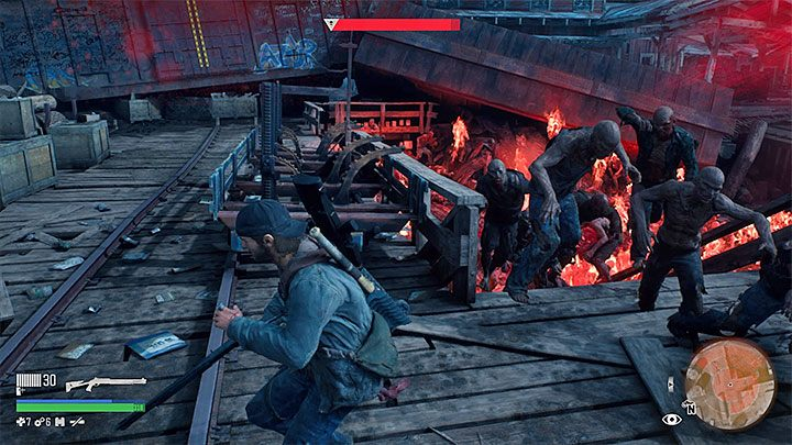 Like all other battles with the Hordes, its best to start this fight by throwing Molotovs with napalm - How to defeat the Horde at the old sawmill in Days Gone? - FAQ - Days Gone Guide
