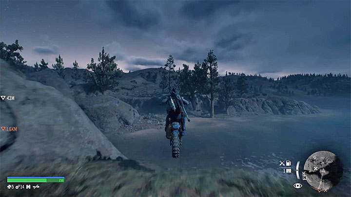 Thats not all, because you need to perform the second jump - Highway 97 Map - Important Locations in Days gone - Highway 97 region maps - Days Gone Guide