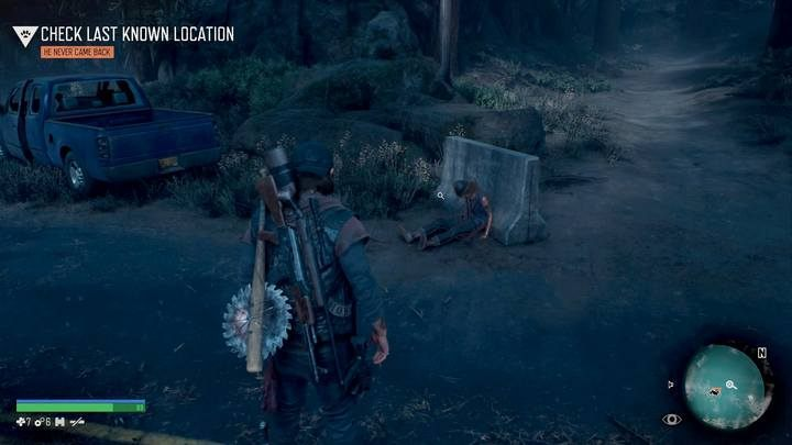 The first corpse - Protecting the Weak | Days Gone Walkthrough - Main storyline - Days Gone Guide