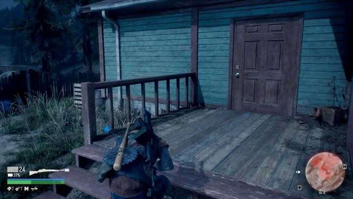 In this mission there is a sort of bug - sometimes you have an opportunity to release the prisoner through a wall at the stairs, on the right, without entering the building. - Protecting the Weak | Days Gone Walkthrough - Main storyline - Days Gone Guide