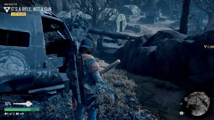 Note: it is worth pushing away the car blocking a shortcut to the stone with Sarahs name - you will come back here more than once - I Remember | Days Gone Walkthrough - Main storyline - Days Gone Guide