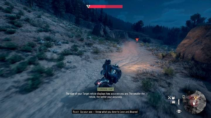 Youre in pursuit again; this time the opponent has more firepower and a tougher bike - Bounty Hunter | Days Gone Walkthrough - Main storyline - Days Gone Guide