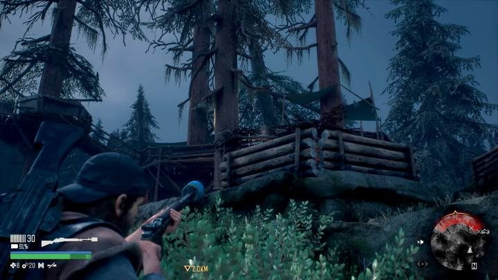 The camp has a lower and upper floor, also with opponents - Bounty Hunter | Days Gone Walkthrough - Main storyline - Days Gone Guide
