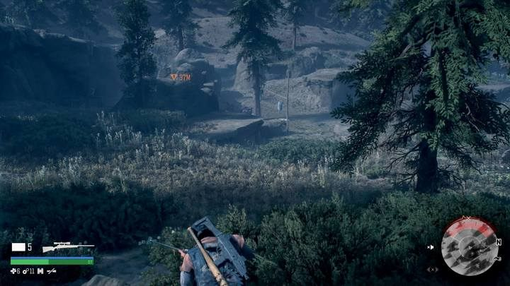 Wait behind the camp until the situation calms down and this way you may avoid the battle. - Bounty Hunter | Days Gone Walkthrough - Main storyline - Days Gone Guide