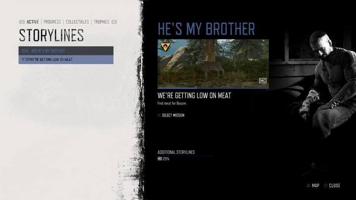 The mission will appear in the journal as soon as you finish Its a Rifle, Not a Gun and leave the camp - youll receive a radio message from Boozer - Hes my Brother | Days Gone Walkthrough - Main storyline - Days Gone Guide