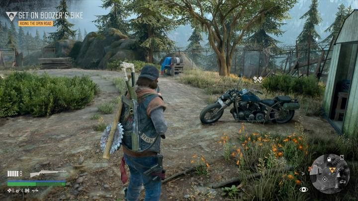 Take the Boozers bike from the former camp. - Hes my Brother | Days Gone Walkthrough - Main storyline - Days Gone Guide