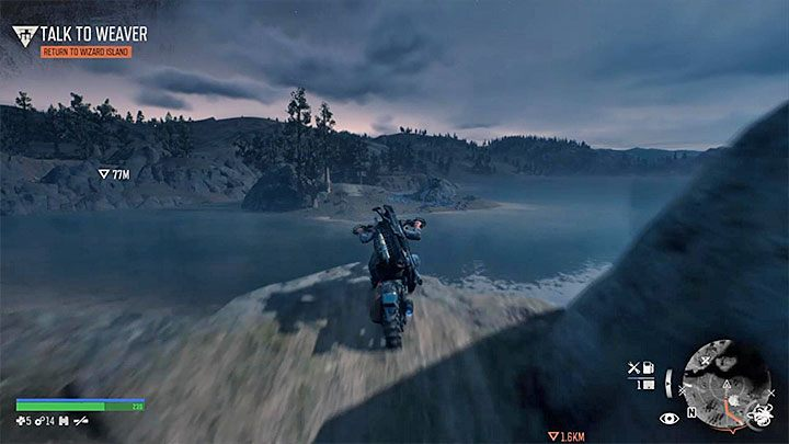 This NERO Intel is on the other side of the river - you cant swim there - Highway 97 Secrets Map in Days gone - Highway 97 region maps - Days Gone Guide