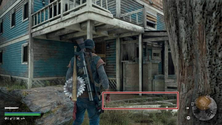 Once the whole area has been cleared, go behind the blue house - Youre Safe Now | Days Gone Walkthrough - Main storyline - Days Gone Guide
