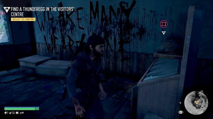 Go to the store at the entrance to the Belknap caves, where youll find an interesting rock - Youre Safe Now | Days Gone Walkthrough - Main storyline - Days Gone Guide