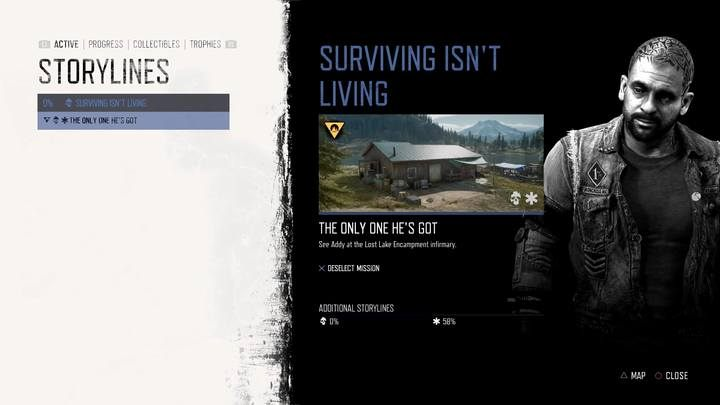 This is the first mission of the new storyline. - Surviving Isnt Living | Days Gone Walkthrough - Main storyline - Days Gone Guide