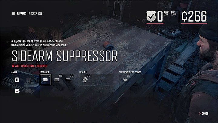 The second method is to buy a suppressor from a merchant in one of the encampments - How to acquire and attach a suppressor in Days Gone? - FAQ - Days Gone Guide