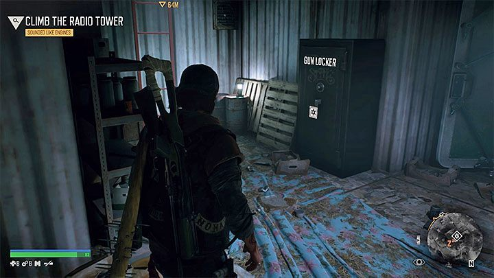 Why are not all of the weapons in the gun locker in Days