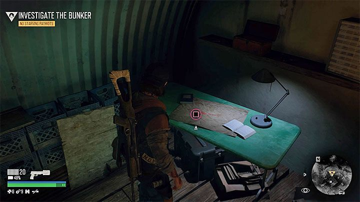The main item that can be obtained in the bunker is an interactive map - Where is the bunker in No Starving Patriots mission of Days Gone? - FAQ - Days Gone Guide