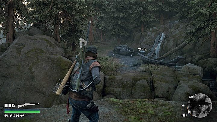 Upon arrival, you will notice that the helicopter is behind a small precipice - How to get to the helicopter wreckage over the precipice in Days Gone? - FAQ - Days Gone Guide