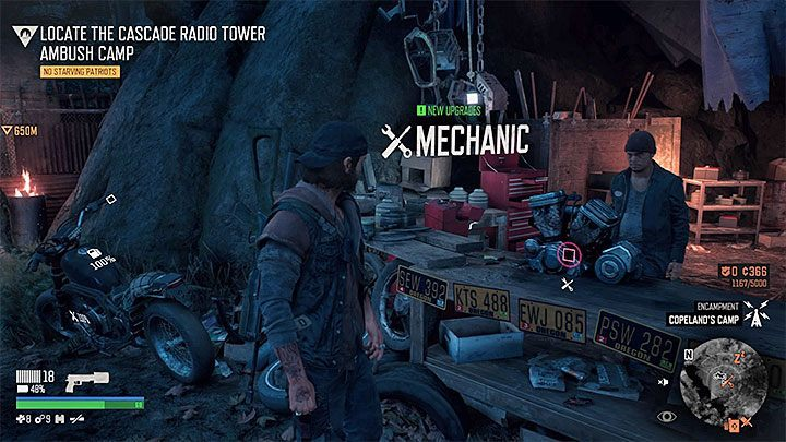 You can upgrade the motorcycle by buying parts from mechanics - How to upgrade the motorcycle in Days Gone? - Motorcycle - Days Gone Guide