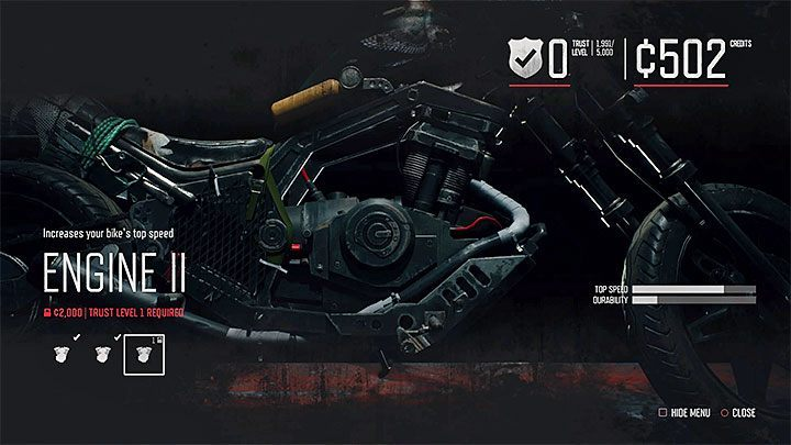 Modifications of Deacons motorcycle are divided into three main categories - How to upgrade the motorcycle in Days Gone? - Motorcycle - Days Gone Guide