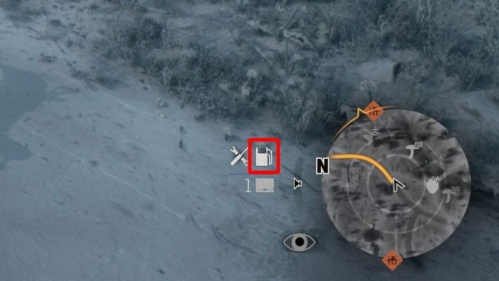 While driving, the amount of fuel is represented by the dispenser icon visible next to the minimap in the bottom right corner of the screen - How to get motorcycle fuel in Days Gone? - Motorcycle - Days Gone Guide