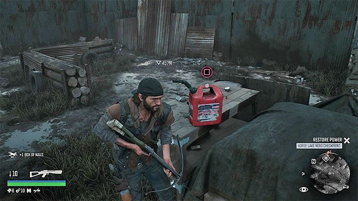 Using a gasoline canister is the best way to fuel the motorcycle - How to get motorcycle fuel in Days Gone? - Motorcycle - Days Gone Guide