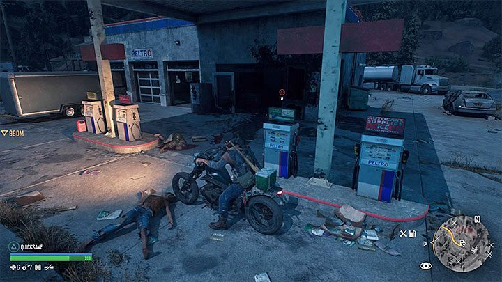 Getting petrol from a dispenser or a tank is the most convenient method of refuelling the motorcycle, but unfortunately, it is only possible in selected locations within the world - How to get motorcycle fuel in Days Gone? - Motorcycle - Days Gone Guide