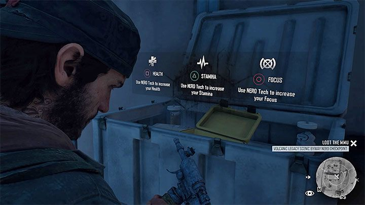 In both types of locations extracting the injection from the white chest puts you in front of making a decision - which stat youre going to increase - How to get the Performance Enhanced trophy of Days Gone? - Trophies and achievement - Days Gone Guide