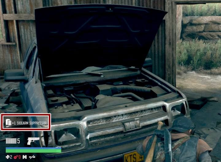 Silencers can be found, e.g. in cars after you lift up the hood. Sometimes, you will find scrap, other times it will be a silencer. - Sneaking in Days Gone - Game basics - Days Gone Guide