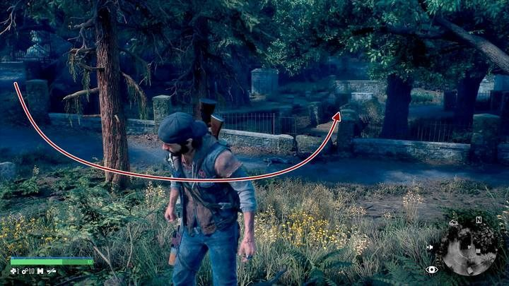 Go to the cemetery located in the north-east part of the map - Chasing Leon | Days Gone Walkthrough - Main storyline - Days Gone Guide