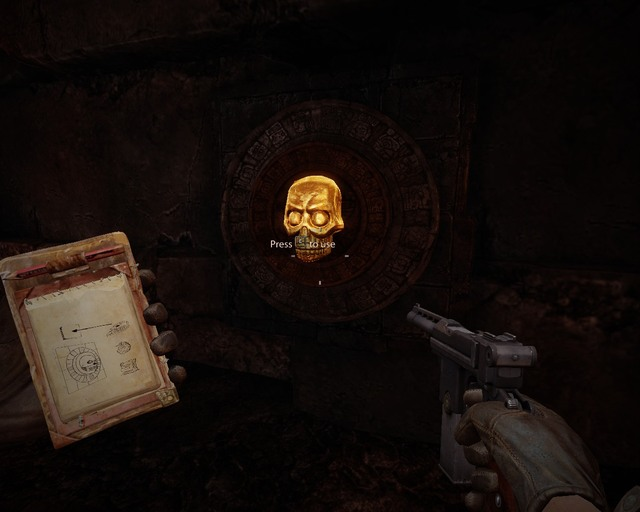 One of three switches for the first puzzle. - Mayan Tombs - Walkthrough - Deadfall Adventures - Game Guide and Walkthrough